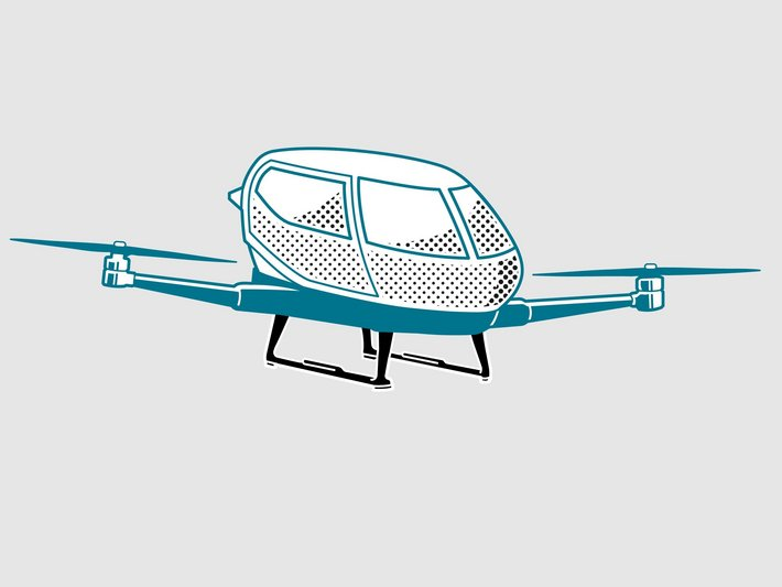 Design of air taxi (anonymized) with landing gear made of carbon fiber based composites