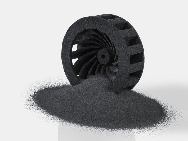 3D printed carbon rotor as an example of the freedom of design with 3D printing