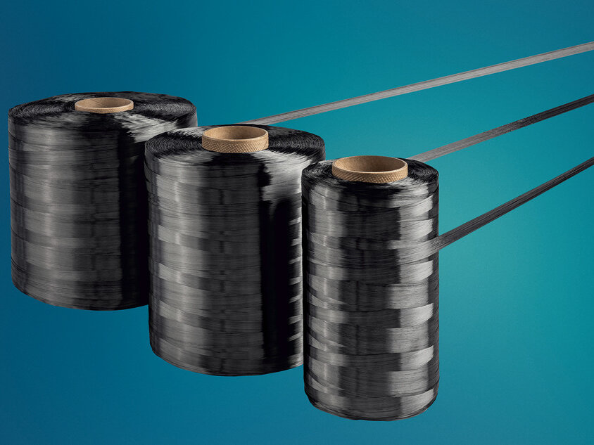 SIGRAFIL continuous carbon fiber tows made by SGL Carbon with 50,000 filaments in different spool sizes