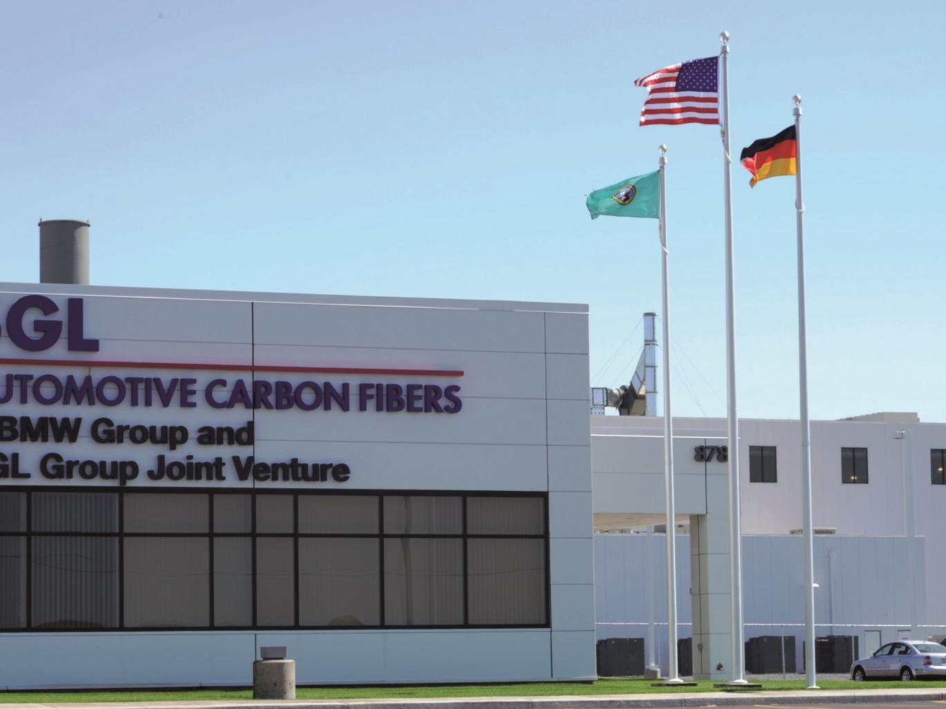 Main entrance of SGL Carbon's Moses Lake site
